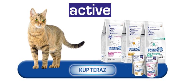 Kup teraz produkty z linii Forza10 Active Line dla kotów